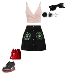"""""""03/08/17"""" by daydreamingpisces on Polyvore featuring Prada, Ray-Ban, Gabriella Rocha and BERRICLE"""