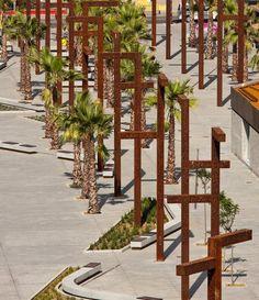 600 23 El jardín de Umm Hakim. Espacio público sobre la desembocadura del Rio de la Miel. Algeciras.