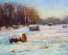 """Daily Paintworks - """"Painting the Winter Landscape is Easy!"""" - Original Fine Art for Sale - © Karen Margulis"""