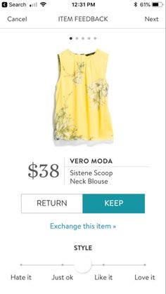 I NEED this yellow shirt. Love the color, love the pattern and love the flowy look of this.....and I have some adorable new yellow flats that will awesome with this and some white skinny jeans!