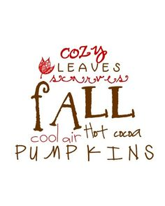 Fall. <3 Just a few of my favorite things.