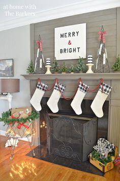 christmas house tour - Pinterest Decorating Mantels For Christmas