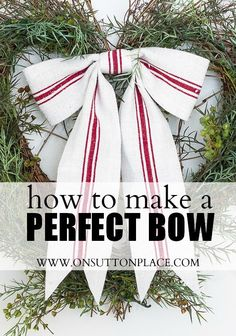 Easy DIY tutorial on how to make a perfect bow every time with no sewing!
