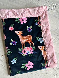 SALE Deer Minky Baby Blanket Crib Blanket Twin Blanket