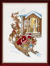 Santa Sleigh Ride Cross Stitch Kit - Eva Rosenstand (14-029)