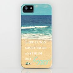 Life is too Short iPhone & iPod Case by RDelean - $35.00