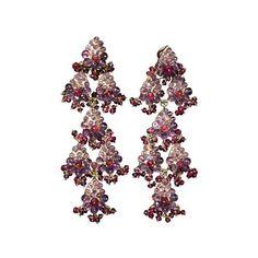 KGS Design India Earrings (62,780 MXN) ❤ liked on Polyvore featuring jewelry, earrings, berry jewelry, 18 karat gold jewelry, hand crafted jewelry, leaf earrings and leaf jewelry