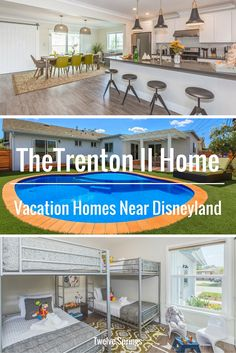 Beautiful and affordable vacation home near Disneyland.   The Trenton II Home by Twelve Springs has 5 bedrooms, 3 bathrooms, a pool, outdoor grill and game room!