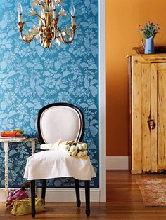 Peacock blue and golden orange... love