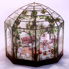 miniature room boxes | Conservatory | Dollhouse Miniature Room Boxes
