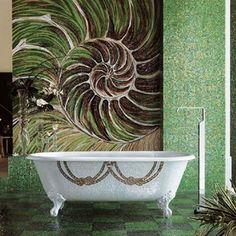 Luxurious-Mosaic-Tiles-Sicis-green-shell-design