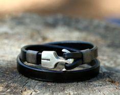 womens bracelet womens leather bracelet womens jewelry armband herren gift  for women cool design, bracelet en cuir Anniversary Gift 7b28ae59e15