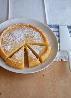 Torta de limão siciliano sem massa - receita