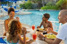 Dine by the pool with or without your shirt on at the Hilton Barbados Resort, minutes from Needhams Point and George Washington House. This 4-star resort is within close proximity of Garrison Savannah and Barbados Museum and Historical Society. #barbados #resort #hilton #holiday #vacation #pool #dining #hotel   Get a beach tour along with your room too!