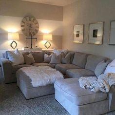 66 best farmhouse living room remodel ideas - Best My Living Room deas Cozy Living Rooms, Home Living Room, Apartment Living, Living Room Designs, Living Room Decor, Living Room Ideas On A Budget, Living Room Sectional, Apartment Design, Sectional Sofa