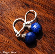 Deep Sea Blue Lapis Lazuli Sterling Silver by maggiesjewelry