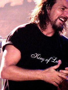 Eddie Vedder In Kings of Leon tee