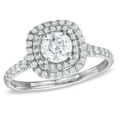 0.95 CT. T.W. Diamond Engagement Ring in 14K White Gold  - Peoples Jewellers