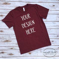 MOCKUP - Bella Canvas Unisex Tri-blend Short Sleeve T-Shirt, Cardinal - jpeg by SVGsByAWebbDesigns on Etsy https://www.etsy.com/listing/578897028/mockup-bella-canvas-unisex-tri-blend