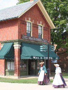 Greenfield Village, Dearborn, MI.   There is so much here to see; but key is Thomas Edison's shop, The Henry Ford Museum and The Firestone Farm, relocated, sod and all, from Columbiana County, Ohio to Greenfield Village. The three were great friends in life.