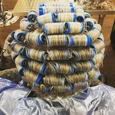 They see me rollin'.....#hairbyannab #rollerset #cosmetology #cosmetologystudent #cosmetologyschool #usca #uscalife #doactiveproducts Sleep In Hair Rollers, Two Toned Hair, French Pleat, Wet Set, Cosmetology Student, Perm Rods, Updo Styles, Bobe, Roller Set