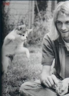 Kurt Cobain, definitely the first song writer/singer/musician whose music I really got into... pretty sure when I was 16-17 I wanted to be him, or at least like him... I didn't want to be dead...