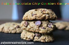 Double Almond Butter Chocolate Chip Cookies with Coconut Flour Paleo Chocolate Chip Cookie Recipe, Paleo Chocolate Chips, Paleo Cookies, Gluten Free Cookies, Gluten Free Desserts, Cookie Recipes, Paleo Sweets, Paleo Dessert, Dessert Recipes