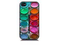 Watercolor paint palette IPhone by skinblaster, via Etsy.