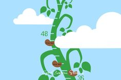 Beanstalk Decal Growth Chart Decal Jack and The Beanstalk Vine Decals Wall Height Decal Fairy Tale Storybook Measure Decal Children Kid Baby