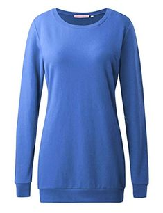 fd4671d6929 Regna X Long Sleeve Loose Casual Pullover Cute Sweatshirts for Women (S-3x