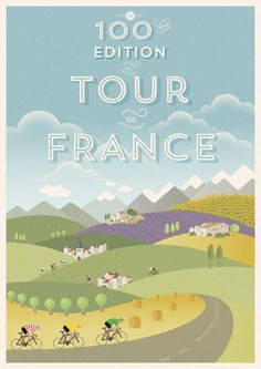 Poster Designs Celebrating the 100th Tour de France