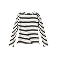 Petit Bateau US Official Online Store, Women's iconic heavy jersey marinière, abysse coquille, Women : Daywear, 11213