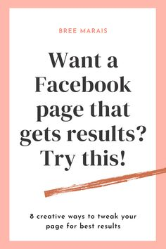 Not sure if you've set up your Facebook page properly so it can work for you? Try these creative and easy tweaks you can do, all in a days work and elevate your page for the best customer experience for your fans! Facebook Business, Facebook Marketing, Business Marketing, Online Business, About Me Page, About Me Blog, Facebook Followers, Facebook Fan Page