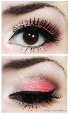 Subtle Coral Make Up... Maybe Some Soft Blush... And To Complete... A Nude Lip With A Touch Of Gloss Would Go Perfect!