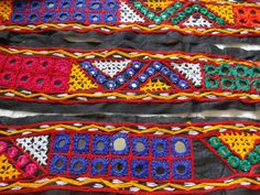 Vintage Kutch Indian Embroidered Lace / Trim  2 by uDazzleSupplies,