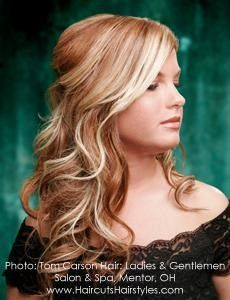 red with blonde - Click image to find more Hair & Beauty Pinterest pins