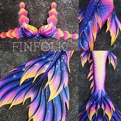 Some detail shots of our newest starry night tail. Mermaid Swim Tail, Mermaid Fin, Mermaid Tails For Kids, Mermaid Swimming, Mermaid Tale, The Little Mermaid, Finfolk Mermaid Tails, Tattoo Mermaid, Real Life Mermaids