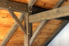 post and beam roof designs | homes-simon-residence-timber-posts-with-brace-rafter-tie-&-pegs
