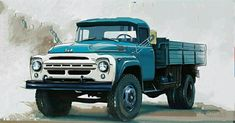 Truck Art, Old Trucks, Eastern Europe, Cars And Motorcycles, Russia, Monster Trucks, Retro, Classic, Vehicles