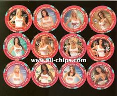 #LasVegasCasinoChip of the Day is the 1st $5 Hooters Calendar Girl 12 chip set for  2006.  This was a pretty scarce set for the 1st two chips! #CasinoChip #LasVegas #Hooters https://www.all-chips.com/ChipDetail.php?ChipID=7318