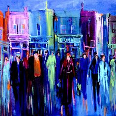 Rush Hour by Mary Pickering - Rush Hour Painting - Rush Hour Fine Art Prints and Posters for Sale Bedroom Artwork, Rush Hour, Sale Poster, City Life, The World's Greatest, Fine Art America, Fine Art Prints, Candle, Marriage