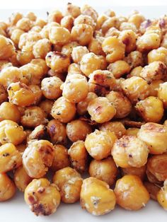 Garlicky Parmesan & Rosemary Roasted Chickpeas - a bit on the labor intensive side but worth it! MMMM!