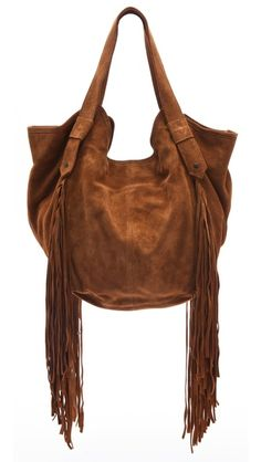 Twelfth St. by Cynthia Vincent Berkeley Bag with Fringe  $380    This slouchy shoulder bag is perfect for everyday or that wild weekend adventure~