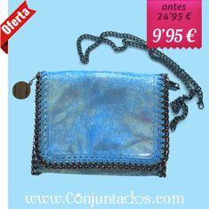 Bolso bandolera Stella en azul turquesa metalizado ★ ahora solo 9'95 € ★ Compra en https://www.conjuntados.com/es/bolsos/bolsos-de-mano/bolso-bandolera-stella-en-azul-turquesa-metalizado.html ★ #rebajas #sales #soldes #rabatte #rebaixes #deskontuak #vendas #sconti #bolso #bag #handbag #conjuntados #conjuntada #lowcost #accesorios #complementos #moda