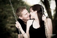 Kissing Swingset Engagement by wade_mcdonald, via Flickr