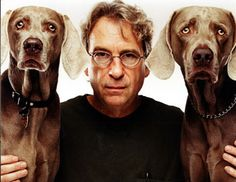 William Wegman and 2 of his dogs. I love the expressions the dogs always have in his photographs. They have such personalities.