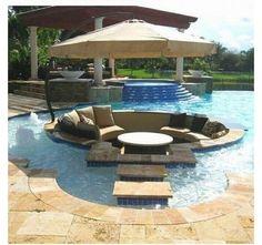 pool design idea - Home and Garden Design Idea's - diferente material o color en LAJAS