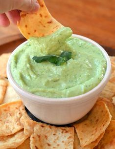 Silken tofu makes an excellent base for creamy dips without the use of sour cream or other dairy. In this bright and zesty green dip, we combined tofu with peas and Mexican-inspired ingredients like cilantro, jalapeño, and lime.