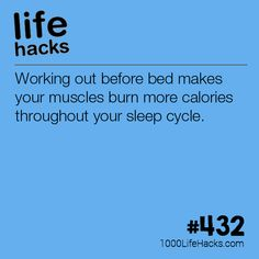 Try Working Out Before Bed