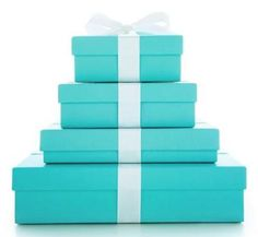 Tiffany Blue= My favorite color.... not because rings come in the boxes.. its a pretty color:)
